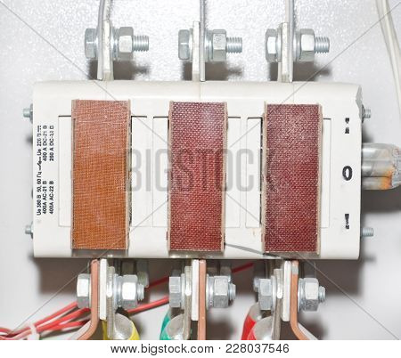 Switch Electrical Circuit. Technical Composition. Elecricity And Power