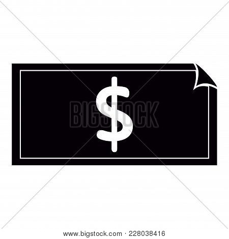 Isolated Money Bill Icon. Vector Illustration Design