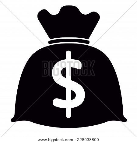 Isolated Money Bag Icon. Vector Illustration Design