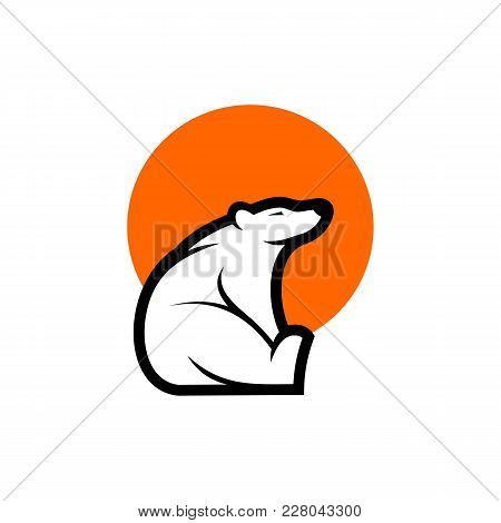 Stylized Graphic Polar Bear Logo Templates. Collection Of Creative Polar Bear Logotype Templates, Gr