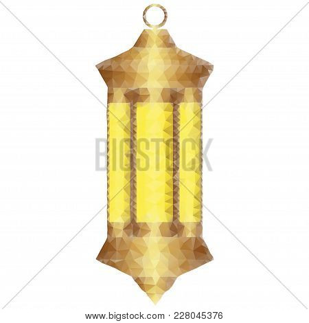 Polygonal Illustration Of Lantern Fanoos. Low Poly Polygon Design, Isolated On White Background. Mus