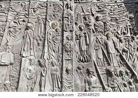 Bronze Door Of Salvation History And Important Events In The History Of Opole, Cathedral Basilica Of
