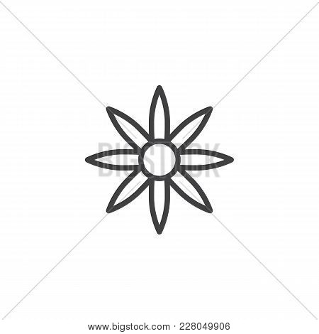 Flower Outline Icon. Linear Style Sign For Mobile Concept And Web Design. Floret Simple Line Vector