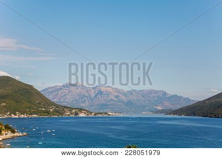 Sea View From The Fortress Of Herceg-novi Of Montenegro