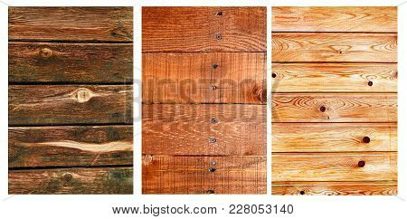 Old And Vintage Wooden Planks Texture Set