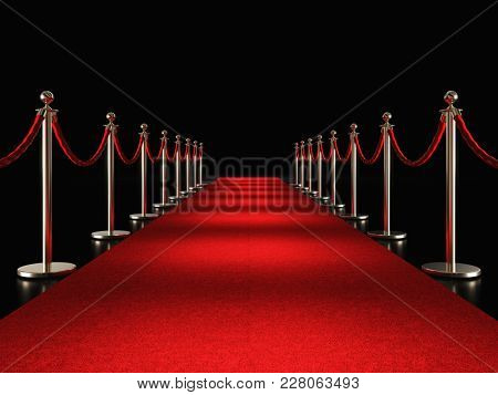 classic red carpet 3d rendering image