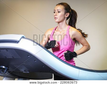 girl is engaged in fitness