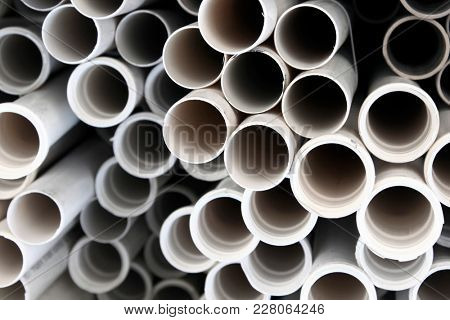 PVC Pipes Stacked