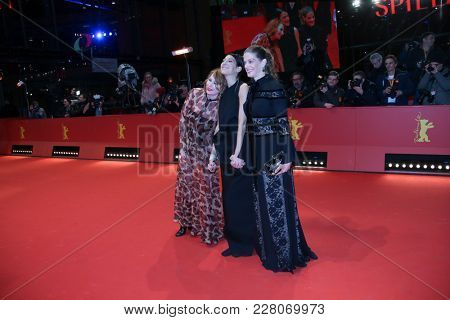 Marie Baeumer, Emily Atef, Birgit Minichmayr  attends the '3 Days in Quiberon' premiere during the 68th  Film Festival Berlin at Palast on February 19, 2018 in Berlin, Germany.