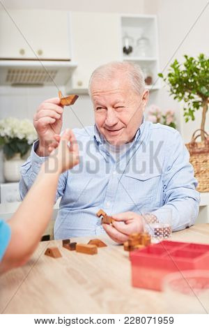Senior in memory training for dementia building blocks