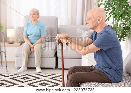 Senior people at home. Elderly care