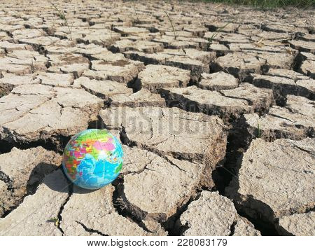 Globe ball on barren land