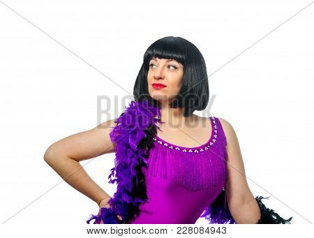 Portrait Of A Passionate Beautiful Adult Woman