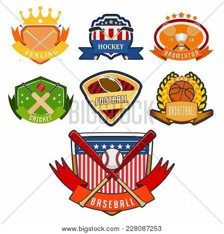 Sport Game Vector Team Logo Play Tournament Label Champion Emblem League Competition Symbol Illustra