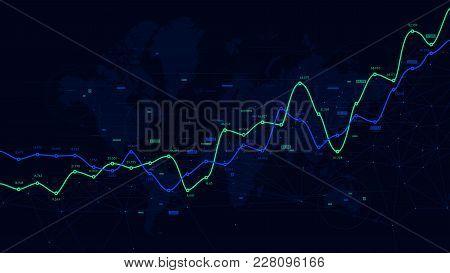 Digital Analytics Data Visualization, Financial Schedule, Vector Dashboard