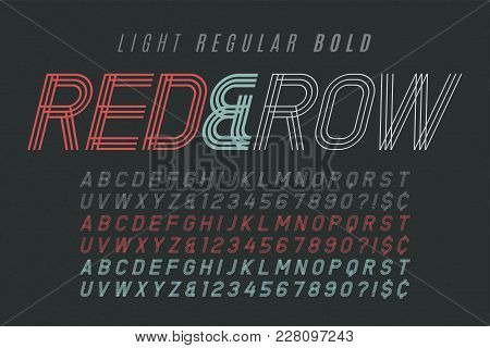 Decorative Vintage Typeface 3 In 1. Font, Typeface, Typography Design. Vector Characters Set