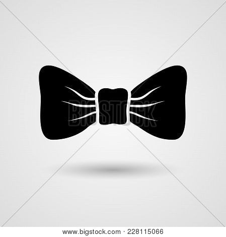 Bow Tie Sign, Label, Icon. Vector Illustration