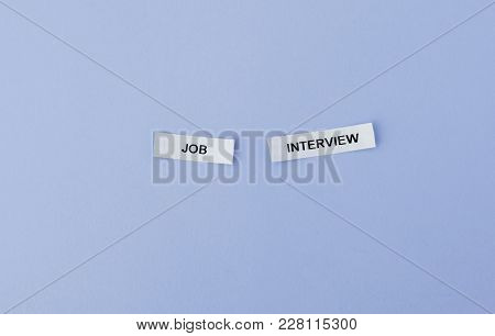 Employement Or Business Concept, White Sticky Notes On Blue Background