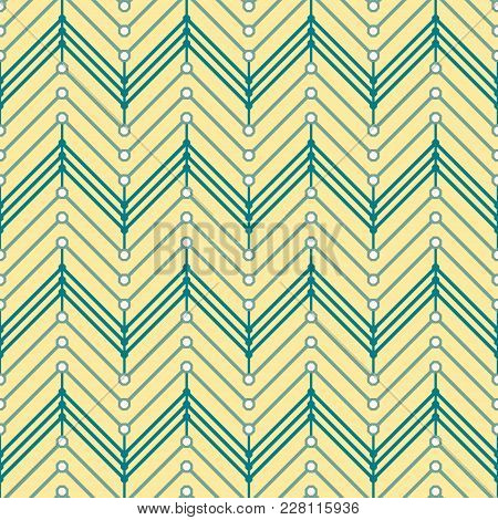 Seamless Geometric Pattern With Multiple Zigzag. Modern Elegant Vector Print Of Zig Zag Lines
