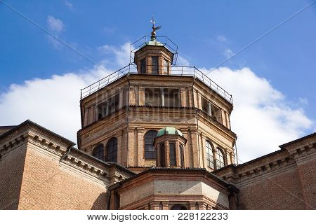Trajan's Forum Twin Churches Beautiful Renaissance And Baroque Domes In The Historic Center Of Rome
