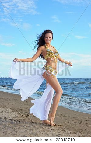 Beautiful Woman In Exotic Dress