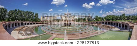 Almaty, Kazakhstan - July 10, 2016: Panorama Of The First President's Park.