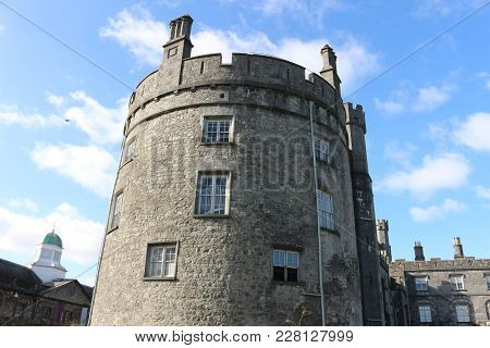 Kilkenny Castle. Historic Landmark In The Town Of Kilkenny In Ireland. Ireland Has Many Castles But