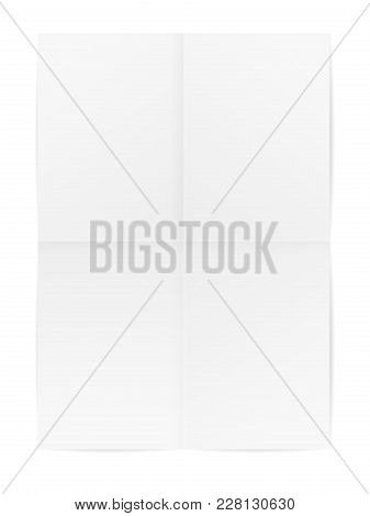 Folded Paper On A White Background. Vector Illustration.