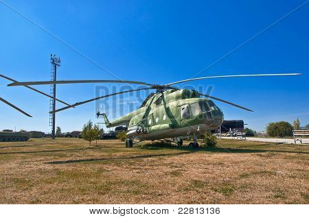 old Russian helicopter