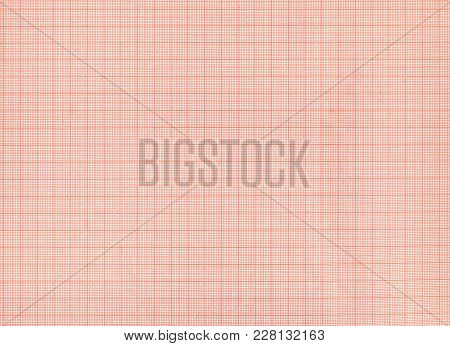 Red Millimeter Graph Paper Texture Or Background