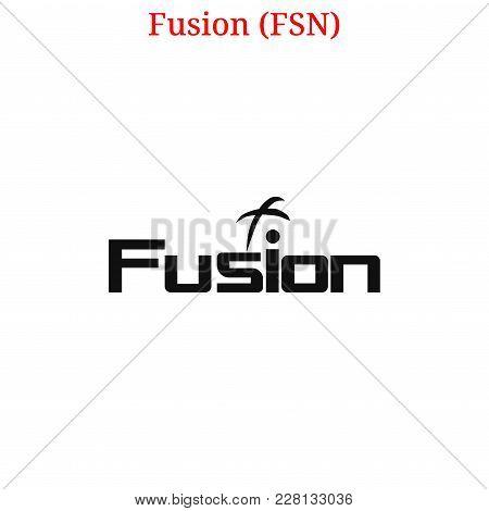 Vector Fusion (fsn) Digital Cryptocurrency Logo. Fusion (fsn) Icon. Vector Illustration Isolated On