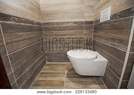 Interior Of A Luxury Show Home Bathroom Toilet