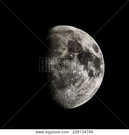 High Contrast Gibbous Moon