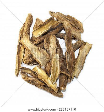 Cortex Lycii Radicis, Chinese Herb Medicine Isolated. Qing Hao