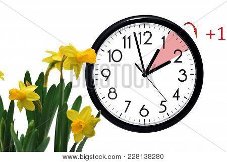 Daylight Saving Time. Change Clock To Summer Time.