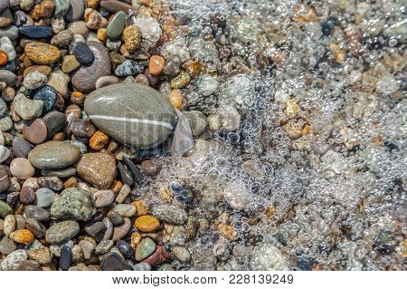 Sea Stones On The Black Sea Coast.