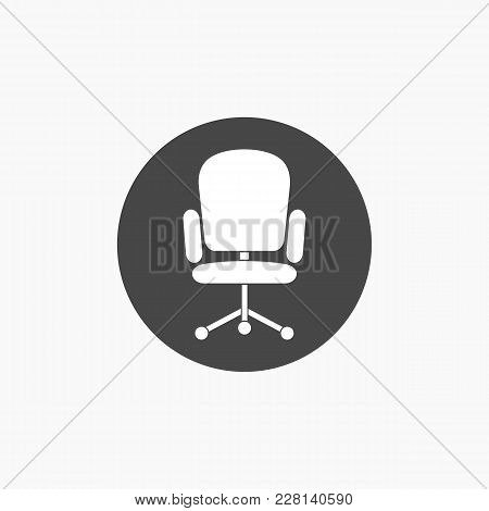 Computer Armchair Illustration Vector Icon For Web.