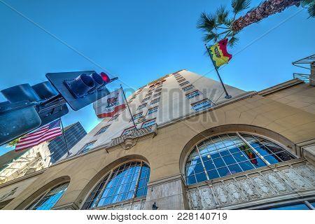 Los Angeles, Ca, Usa - November 02, 2016: Roosevelt Hotel In Los Angeles