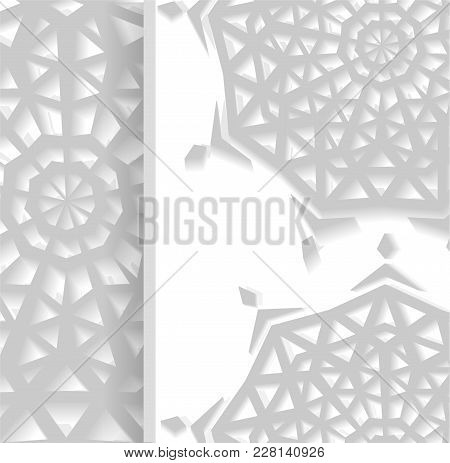 Arabic Islamic Pattern. Design Elements Can Use For Ramadan Kareem Greeting Card Or Eid Mubarak Invi
