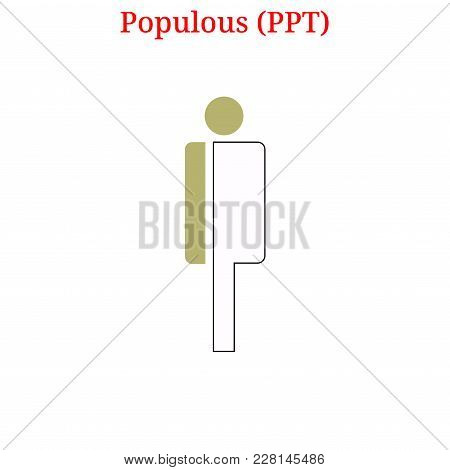Vector Populous (ppt) Digital Cryptocurrency Logo. Populous (ppt) Icon. Vector Illustration Isolated