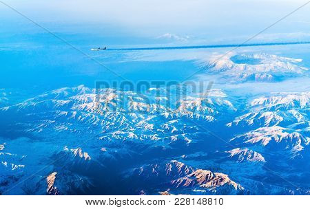 Aerial View Of Mountains In Northern Anatolia. Turkey