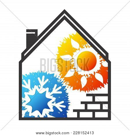Air Conditioning And Ventilation For Home Symbol