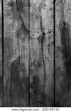 Old Wooden Patterns Vertical Background Black And White