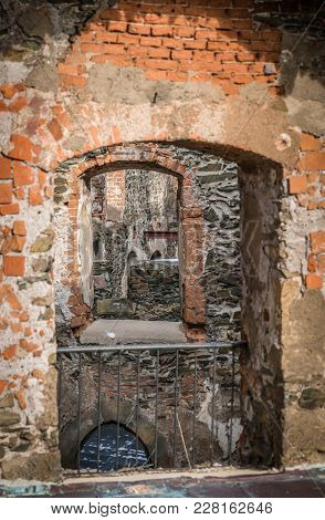 Internal Wall Windows In The Thick Walls Of The Medieval Bolkow Castle In Lower Silesia, Poland