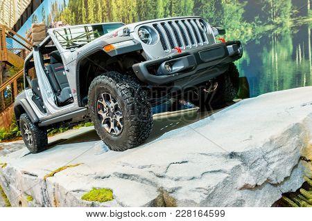 February 15, 2018. Toronto, Canada: Presentation Of Jeep Car During The 2018 Canadian International