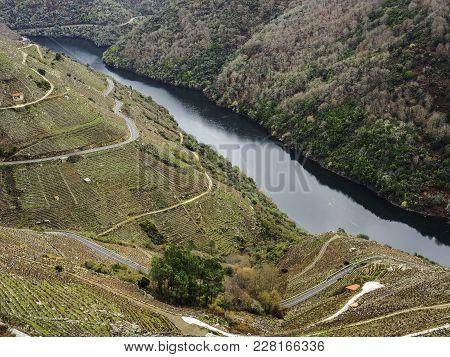 Sil River Canyon In The Ribeira Sacra, Ourense, Galicia. Spain