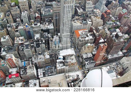 New York. Usa. View On Manhattan From Empire State Buildinig.