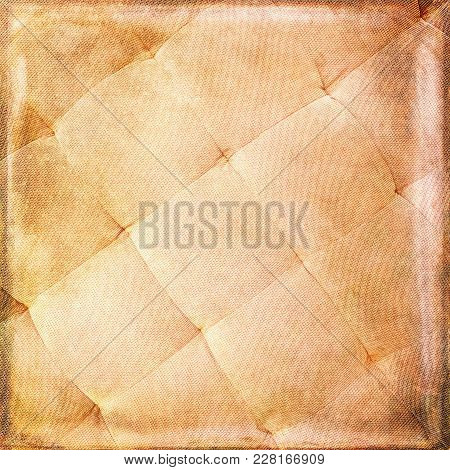 Grunge Fabric Background. Detail Of A Textile Ottoman. Vintage Texture.