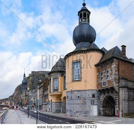 Cityscape Of Dinant, Belgium On Meus River