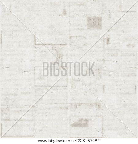 Old Newspaper Texture Background. Blurred Vintage Newspaper Background. A Blur Unreadable Old Newspa